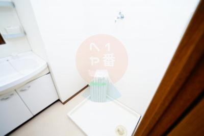 うれしい室内洗濯機置き場です
