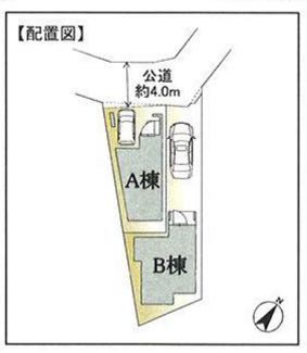 【区画図】横浜市中区山元町1丁目 新築戸建て 3LDK