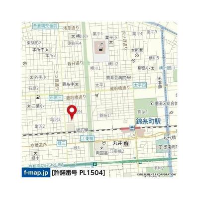 【地図】パセオ・ラルゴ