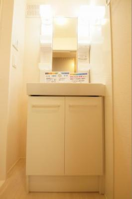 「嬉しい独立洗面台です」
