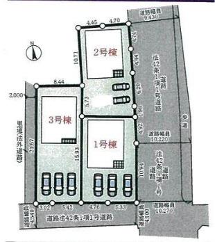 【区画図】三木市府内町第3 2号棟 ~新築一戸建~