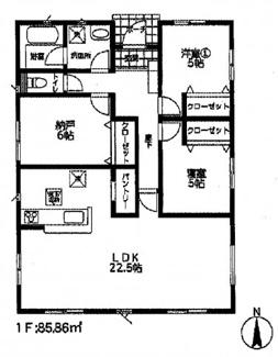 平塚市纒 新築戸建 全2棟1号棟 平屋