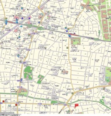 【地図】菱和パレス三軒茶屋