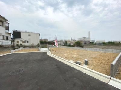 敷地面積130.33㎡(約39.42坪)!敷地西側は抜けているため、眺望良好!開放感がございます♪