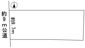 【区画図】57279 岐阜市古市場土地