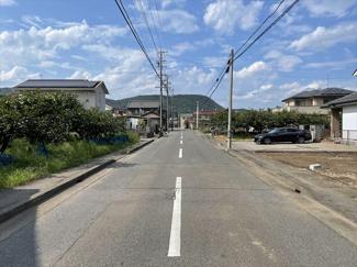 【前面道路含む現地写真】57279 岐阜市古市場土地