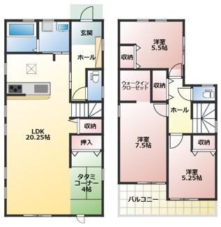 碧南市伏見町Ⅱ新築分譲住宅1号棟間取りです。