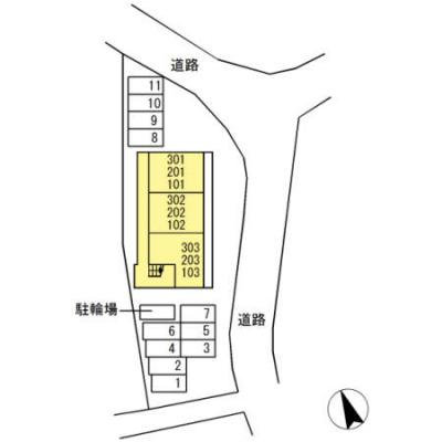 【区画図】グレイスハイツ