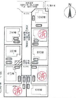 【区画図】平塚市横内 新築戸建 全10棟8号棟