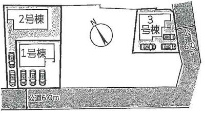 【区画図】守山市播磨田町3期 分譲3区画 2号棟