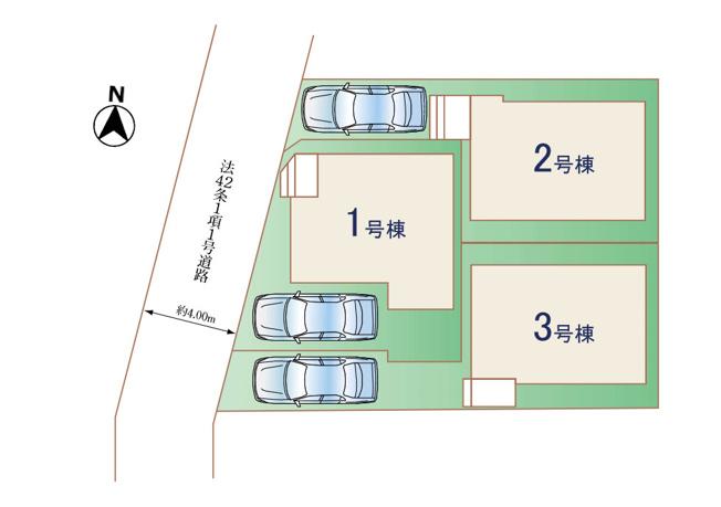 【1号棟】国立市東2丁目 新築戸建 全3棟