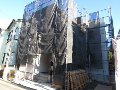 【外観】川越市岸町 4LDK+カースペース2台付き 新築戸建