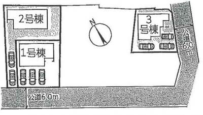 【区画図】守山市播磨田町3期 分譲3区画 3号棟