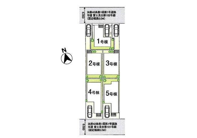 【区画図】【1号棟】国立市富士見台1丁目 新築戸建 全5棟