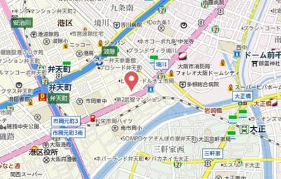 【地図】レオンヴァリエ大阪ベイシティⅡ