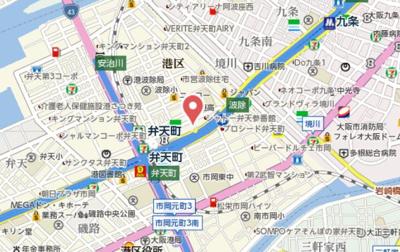 【地図】ジュネーゼみなと弁天町