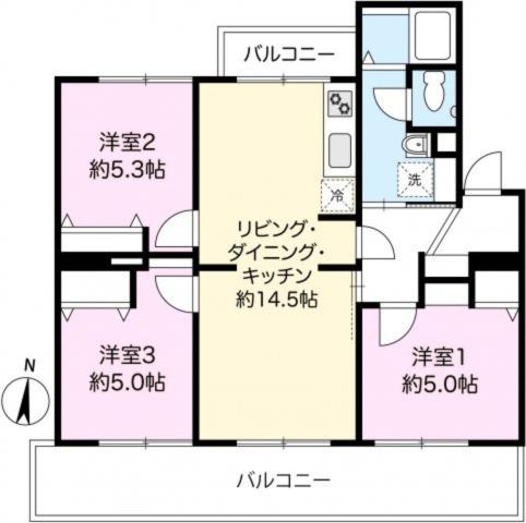 フルリノベーション 3LDKのお部屋です。全てリフォームされており即入居可能です。