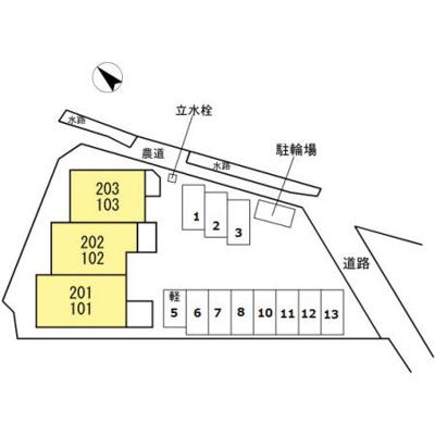 【区画図】リバージュハイツⅢ