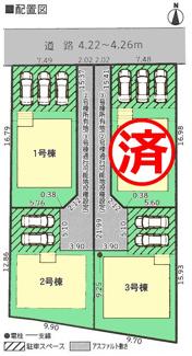 【区画図】沼津市下香貫第24 新築戸建 全4棟 (3号棟)