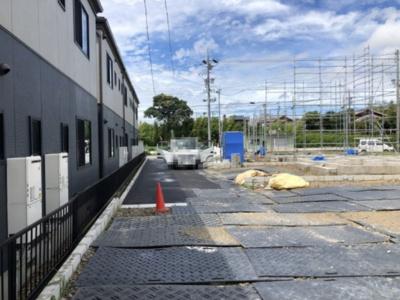碧南市長田町新築分譲住宅前面道路は南側4.5mの共有道路です。