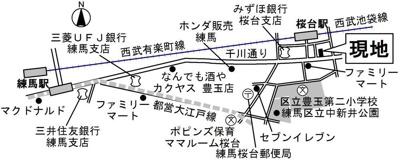【地図】リヴィエール桜台