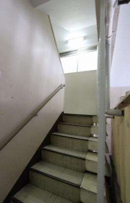 共立第一マンションの階段です。