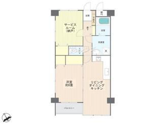 陽当り良好な南西角部屋、内装リノベーション済で安心です