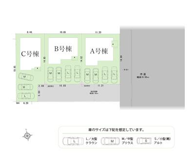 【区画図】磐田市森下 新築一戸建て C号棟 HP