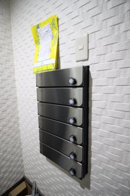 ダイヤル錠式のメールボックス