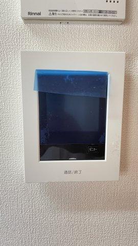 室内TVモニタ付インターホンで来訪者を確認できます