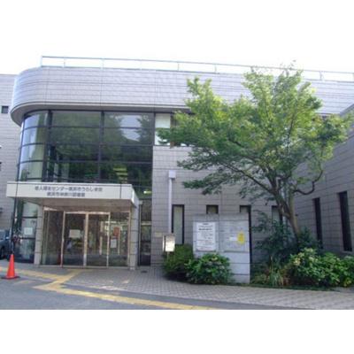 図書館「神奈川図書館まで71m」横浜市神奈川図書館