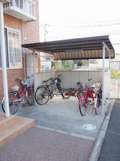入居者共同の駐輪場です