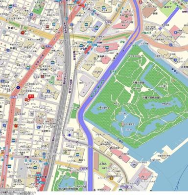 【地図】スカイコート浜松町壱番館