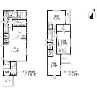 【区画図】藤沢市石川6丁目2期 新築戸建