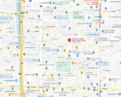 【地図】内平野町ハイツ