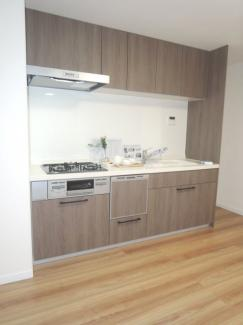 食洗機付き、システムキッチン。お料理をもっと楽しく