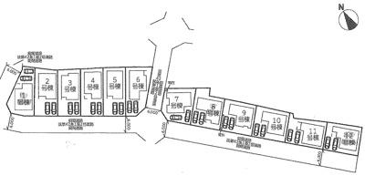 【区画図】雄琴5丁目 分譲12区画 6号棟