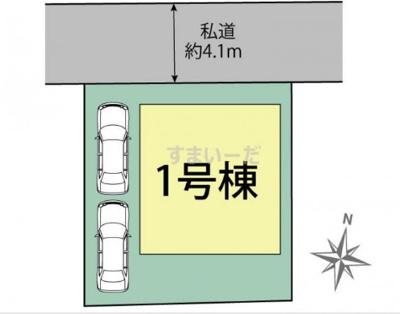 【区画図】ブルーミングガーデン宝塚市米谷1丁目