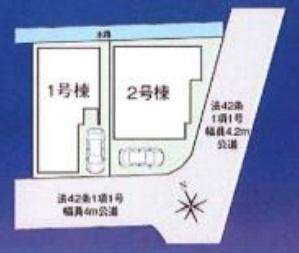 【区画図】ファーストタウン茨木市第4庄