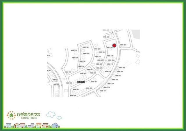 【区画図】水戸市鯉淵町 売地 85坪