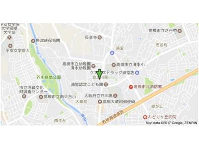 【地図】サンライズ高槻 (株)Roots