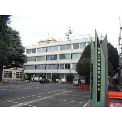 役所「小金井市役所 開発事業本部まで550m」