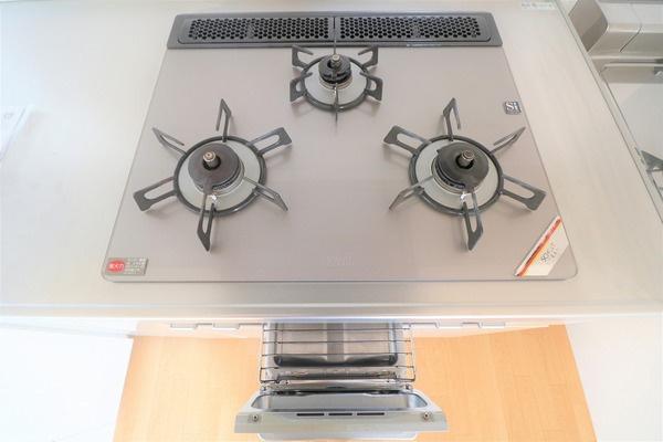 【キッチン】 お料理の捗る3口コンロ♪