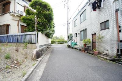 【前面道路含む現地写真】茨木市玉水町売地