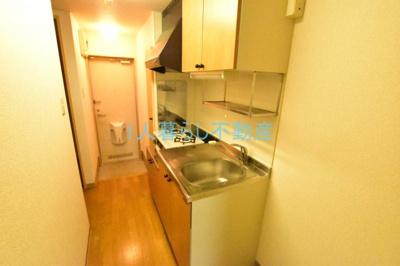 2口ガスコンロ設置可のキッチンです。
