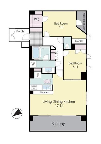 1LDK+S(納戸)、価格9480万円、専有面積70.76平米、バルコニー面積11.34平米。LDKは大型の17.7畳。カウンターキッチンでご家族とコミュニケーションが取りやすい間取りです。