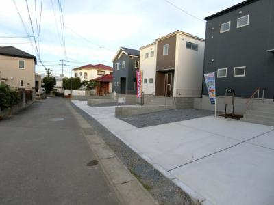 【前面道路含む現地写真】石岡市国府2期 新築戸建