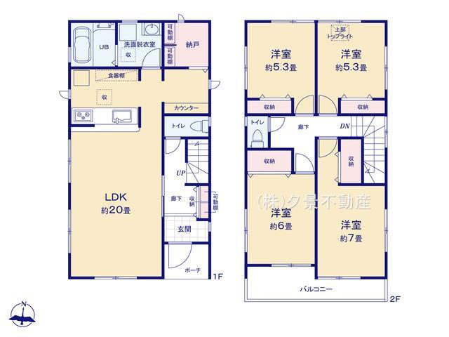 【区画図】大宮区櫛引町1丁目833-1(1号棟)新築一戸建てリーブルガーデン