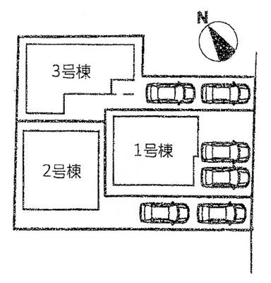 【区画図】本堅田3丁目21-1期 分譲3区画 1号棟