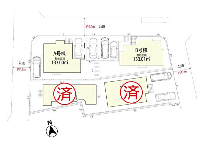 【区画図】国立市大字谷保 新築戸建 全4棟 B号棟